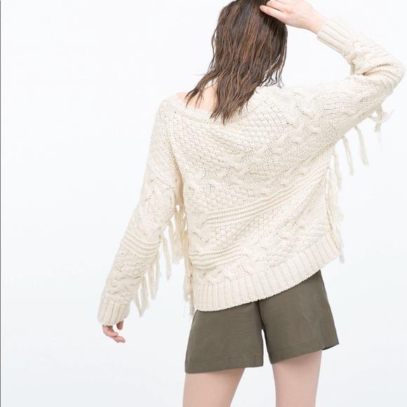 df4070e3c95 Zara Fringe Sweater